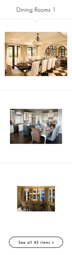 """""""Dining Rooms 1"""" by mynamesmixxirose ❤ liked on Polyvore featuring home, furniture, chairs, dining chairs, house, dining room, rooms, homes, places and los angeles furniture"""