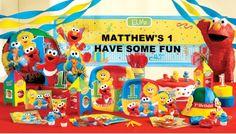 Baby Boy First Birthday Themes sesame street | 1st Birthday Supplies - First Birthday Party Supplies