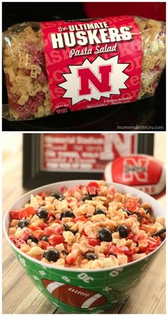 Nebraska Huskers Pasta Salad - Perfect for tailgating/watch parties