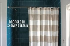 TUTORIAL: Dropcloth Shower Curtain | MADE