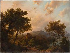 Sunset on the Rhine Barend Cornelis Koekkoek  Date: 1853
