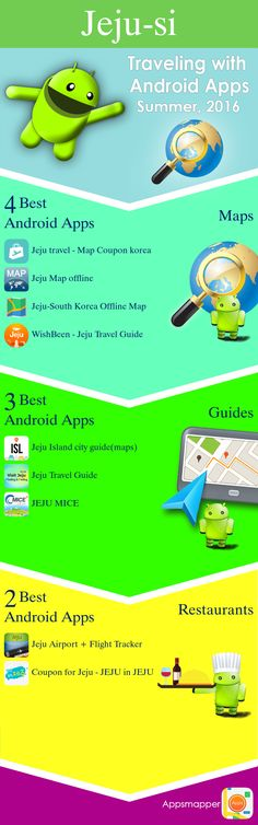 Jeju-si Android apps: Travel Guides, Maps, Transportation, Biking, Museums, Parking, Sport and apps for Students.