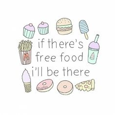 I can't live without food