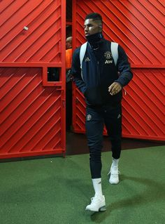 Marcus Rashford of Manchester United arrives ahead of the UEFA Champions League Round of 16 First Leg match between Manchester United and Paris Saint-Germain at Old Trafford on February 2019 in. Get premium, high resolution news photos at Getty Images Manchester United Wallpaper, Manchester United Players, Marcus Rashford, Manchester England, Sports Wallpapers, February 12, Paris Saint, Old Trafford, Man United