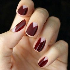 Nailspiration nail art on short nails in simple geometry for spring || идеи для весеннего маникюра на коротких ногтях