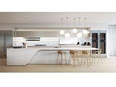 Kitchen island by mim design studio Modern Kitchen Interiors, Contemporary Kitchen Design, Home Decor Kitchen, Modern Contemporary, Kitchen Cabinet Design, Interior Design Kitchen, Kitchen Cabinets, Kitchen Sitting Areas, Modern Kitchen Island
