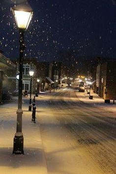 Snow, Jan.  2014.  Downtown. Rogersville , Tennessee .