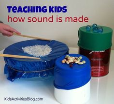 Teaching Kids How Sound is Made - using simple items from around the house we demonstrated sound vibration and we had a lot of fun in the process too! What items would you use for this activity? lifetime-love-of-learning