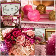 Pink + Gold GLAM Bridal Shower #glam