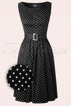 Hearts And Roses Black White Polkadot Swing Dress 13283 20140319 0008Wav