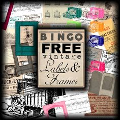 Sweetly Scrapped: ♥Free Ephemera Labels, Pictures, Clipart + Collages