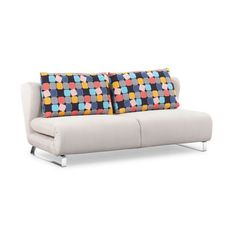Gray Sofa Sleeper with Colorful Pillows
