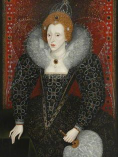 so there  i was sitting in the refectory having my breakfast and she was above me!!!!   Elizabeth I (1533–1603)  Date painted: c.1590  Oil on panel, 109 x 81 cm  Collection: Magdalen College, University of Oxford