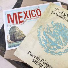 Sugar Skull Passport Wedding Invitation (Mexico)