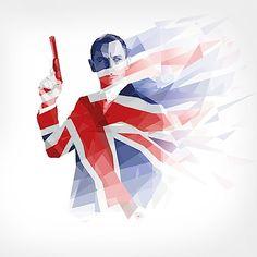 Union Jack ♔ James Bond 007 - iPad Retina Wallpaper by Kate Jones, via Behance Gandalf, Daniel Craig, Craig James, Union Jack, Breaking Bad, Batman, Hunger Games, Estilo James Bond, Kate Jones