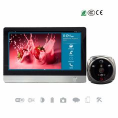 185.90$  Watch here  - 7in Wi-Fi Video Call GSM Peephole Two-way Talk Doorbell Enabled Viewer 1080P Surveillance Camera SMS Motion Alarm SD Card Silver