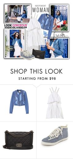 """""""VivaLuxury: Spring Denim Favourites"""" by katyusha-kis ❤ liked on Polyvore featuring Chanel, Rebecca Taylor and Feiyue"""