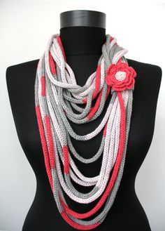 30 OFF SALE  Knit Scarf Necklace  loop scarf infinity by DreamList, $26.00