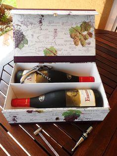 Caja para regalar vino