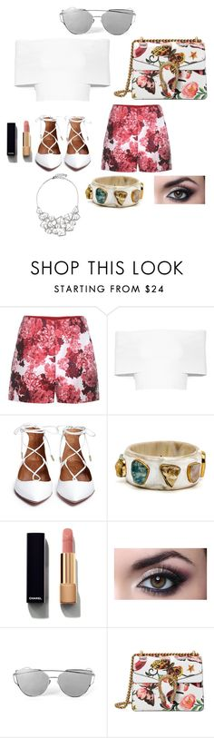 """""""Untitled #122"""" by starlord221b on Polyvore featuring Moncler Gamme Rouge, Rosetta Getty, Chanel, Gucci and Ted Baker"""