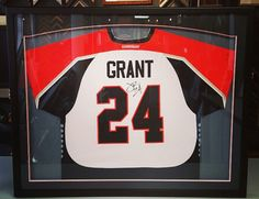 We're honored to frame this game-worn jersey by John Grant, Jr. of the @denveroutlaws and Colorado Mammoth! #denver #colorado #jerseyframing #sportsframing #denveroutlaws #coloradomammoth