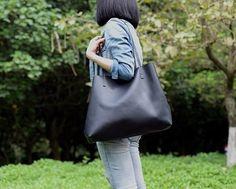 Image of Handmade Vegetable Tanned Full Grain Leather Women Tote Bag, Shopping Bag, Shoulder Bag ZB-01