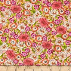 Similar to Liberty of London, but a third the cost!  And I might even prefer the design. Designed for Kaufman Fabrics, this very lightweight fabric is a finely woven, high count combed cotton lawn that is very soft and has an ultra smooth hand. It is perfect for flirty blouses, dresses, shirts, lingerie, tunics, tops and even quilting.