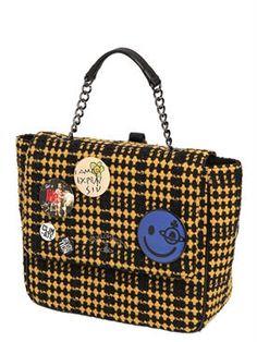 vivienne westwood - women - backpacks - large avon wool backpack w/ pins