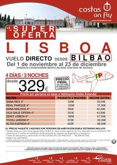 LISBOA desde Bilbao. Super Oferta Salidas Noviembre y Diciembre - http://zocotours.com/lisboa-desde-bilbao-super-oferta-salidas-noviembre-y-diciembre/