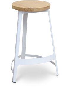 Stanley bar stool - white 65cm - Cintesi