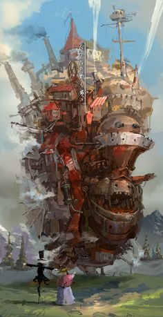 Howl's Moving Castle Artwork, studio ghibli