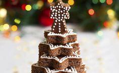 Weihnachtlicher Schokokuchen-Baum