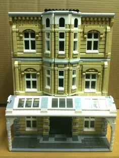 Custom lego city modular building instructions