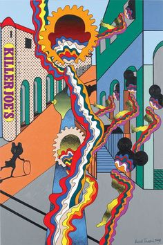 One of the great Japanese pop and psychedelic artists of the postwar era, we love the mind of Keiichi Tanaami. The artist has worked in graphic design. Japan Illustration, Japanese Graphic Design, Japanese Art, Japanese Culture, Keiichi Tanaami, Japan Advertising, Psychedelic Artists, Killer Joe, Neo Dada