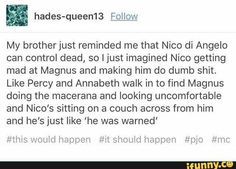 Nico di Angelo, Magnus Chase, Percy Jackson, Annabeth Chase