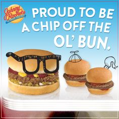 Proud to be a chip off the ol' bun. Fathers Day Ecards, Fathers Day Gifts, Be Proud, Good Buddy, Ol, Hamburger, How To Memorize Things, Chips, Breakfast