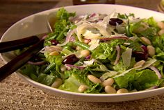 Tuscan Salad - this is amazing.  I think with grilled chicken it would be a good dinner salad.