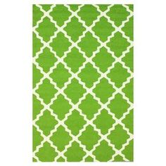 Add a pop of style to your foyer, sunroom, or patio with this versatile rug.   Product: RugConstruction Material: 100% PolypropyleneColor: GreenFeatures:  Hand-hookedSuitable for indoor or outdoor use Note: Please be aware that actual colors may vary from those shown on your screen. Accent rugs may also not show the entire pattern that the corresponding area rugs have.Cleaning and Care: Spot treat with a mild detergent and water.  Professional cleaning is recommended.