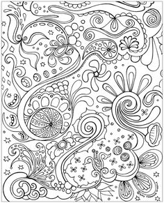 Free Abstract Coloring Page to Print by Thaneeya McArdle