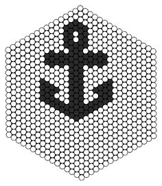 Larger Anchor Perler bead pattern