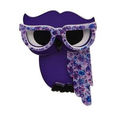 Waldo the Wacky Wise Owl (Erstwilder Purple Resin Brooch), now available. Hand assembled and hand painted, presented in a branded box. Bird Jewelry, Animal Jewelry, Resin Jewelry, Unique Mothers Day Gifts, Mother Day Gifts, Pin Up Style, My Style, Tailor Shop, Quirky Gifts