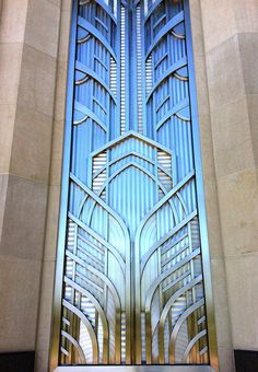 art deco window at the smith center, las vegas.