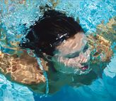 Naples Swimmer Giclée Edition and Original Oil by Jeannie Maddox Artist