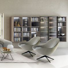 - Biblioteca modular by ZALF spa Contemporary Interior Design, Bookcase, Shelves, Link, Home Decor, See Through, Glass Rack, Swinging Doors, Point Of Sale