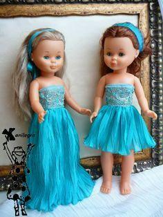 ANILEGRA COSE PARA NANCY: Vestidos low cost de Alta costura , para Nancy y Pepa