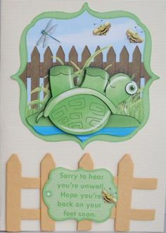 HOPE YOU RE BACK ON YOUR FEET SOON get well birthday on Craftsuprint designed by Janet Briggs - made by Kristina Norbat