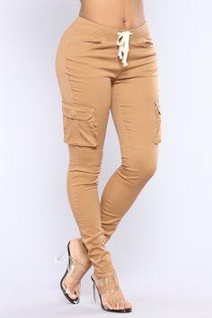 Sabina Cargo Pants - Camel