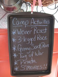 Mason's 8th birthday campout - camp activities (in my dead from the flu state I spelt wiener wrong - oops!! I guess we could have roasted that senator)