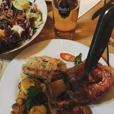 Knuckles and Kölsch #wirtshaus#cologne#pigknuckle#homemadesausage#Kölsch by somm82 #haxenhaus #people #food