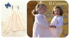 Pink flowered dress with blue cotton lace - Vestido de flores cor de rosa com renda de algodão azul